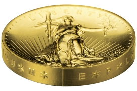2009 Ultra High Relief Double Eagle Gold Coin Edge Lettering